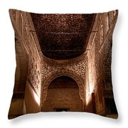 Entrance To The Ambassadors Hall In The Alhambra Throw Pillow