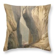 Entrance To The Bolan Pass From Dadur Throw Pillow