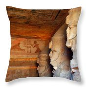 Entrance To The Great Temple Of Ramses II Throw Pillow