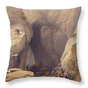 Entrance To The Kojak Pass From Parush Throw Pillow