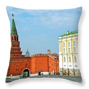 Entry Gate At Armory Museum Inside Kremlin Wall In Moscow-russia Throw Pillow