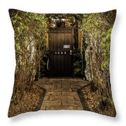 Entry To 1350 Throw Pillow