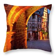 Entry To Riquewihr Throw Pillow
