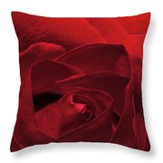 Enveloped In Red Throw Pillow