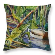 Environmentally Sound - Mallard Duck Throw Pillow
