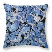Enya Blue Throw Pillow