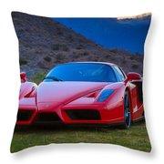 Enzo Ferrari Bold Throw Pillow