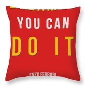 Enzo Ferrari Quote - If You Can Dream It Throw Pillow