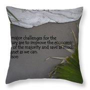 E.o. Wilson Quote Throw Pillow
