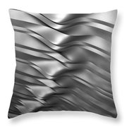 Eolian Silver Throw Pillow