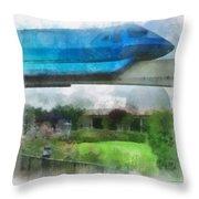 Epcot Globe And Blue Monorail Walt Disney World Photo Art 01 Throw Pillow