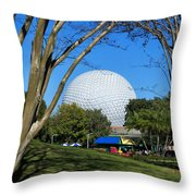 Epcot Globe Walt Disney World Throw Pillow