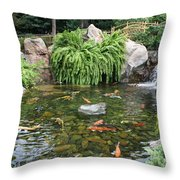 Epcot Koi's Throw Pillow