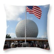 Epcot Usa Throw Pillow