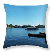 Epcot World Showcase Lagoon Panorama 01 Walt Disney World Throw Pillow