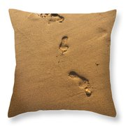 Ephemeral Footprints  Throw Pillow