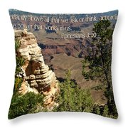 Ephesians 3 Verse 20 Throw Pillow