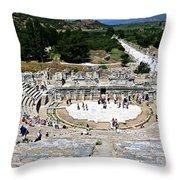 Theater Of Ephesus Throw Pillow