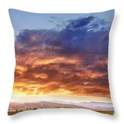 Epic Colorado Country Sunset Landscape Throw Pillow