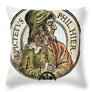 Epictetus Throw Pillow
