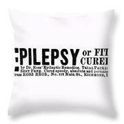 Epilepsy Treatment, 1878 Throw Pillow
