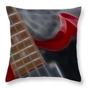 Epiphone Sg Bass-9205-fractal Throw Pillow