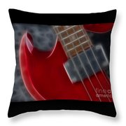 Epiphone Sg Bass-9222-fractal Throw Pillow