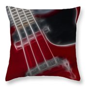 Epiphone Sg Bass-9241-fractal Throw Pillow