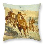 Episode Of The Buffalo Gun Throw Pillow