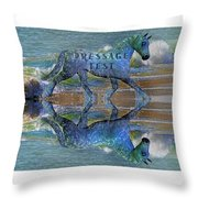 Epona Equine Dressage Test  Throw Pillow by Betsy Knapp
