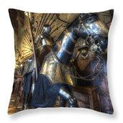 Equestrian Armour Throw Pillow