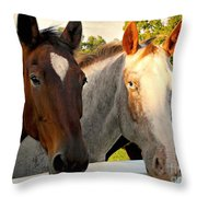 Equestrian Beauties Throw Pillow