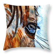 Equine Reflection Throw Pillow