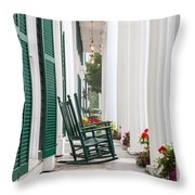 Equinox Hotel Columns Throw Pillow