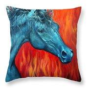 Equus Diabolus Diablo Throw Pillow
