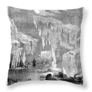 Erebus And Terror In The Ice 1866 Throw Pillow