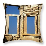 Erechtheion 7 Throw Pillow