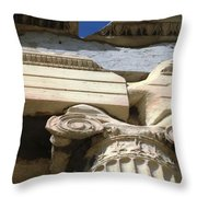 Erechtheion 8 Throw Pillow