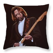 Eric Clapton Painting Throw Pillow