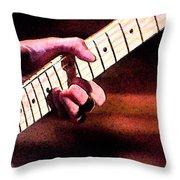 Eric Clapton Playing Guitar Throw Pillow
