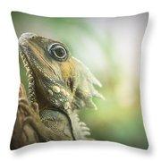 Eric The Lizard Throw Pillow