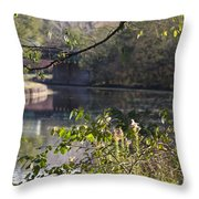 Erie Canal At Bushnell Basin Throw Pillow
