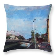 Erie Canal In Lockport Throw Pillow