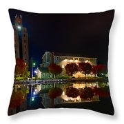 Erie Canal In Pittsford Ny Throw Pillow