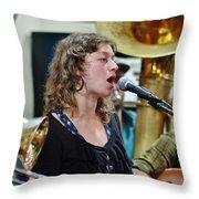 Erika Lewis With Tuba Skinny Throw Pillow