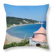 Erikousa Beach Throw Pillow
