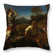 Erminia And The Shepherds Throw Pillow