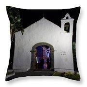 Ermita San Telmo. Puerto De La Cruz By Night Throw Pillow