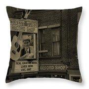 Ernest Tubb Record Shop Throw Pillow