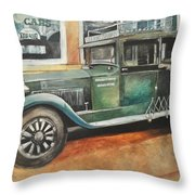 Ernests First Bus Throw Pillow